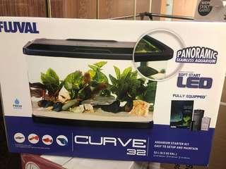 Fluval curve 32 fish tank
