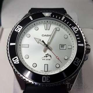 Casio Duro MDV106 Stainless Steel Silver Dial Dive-Style Watch Men's Watch
