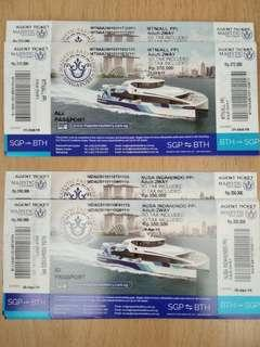 Majestic Fast Ferry Physical Ticket Indonesian Passport
