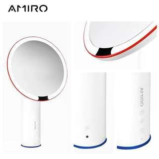 Amiro 8 inch Smart Lighted Vanity Makeup Mirror with Natural Sunlight,Motion Sensor,High Color Rendering Index Led Lighted Mirror,White