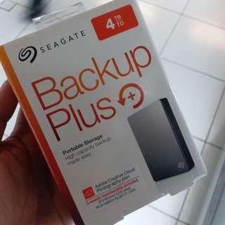 Seagate Backup Plus 4 tera 2.5 external hardisk warranty till 2011