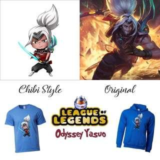 🚚 Odyssey Yasuo Merch / League Of Legends Items, Shirts, Hoodie, Cups / Gifts for Him / Her / Friends