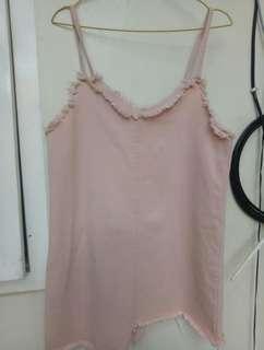 Overall midi pink