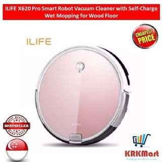 ILIFE X620 Pro Smart Robot Vacuum Cleaner with Self-Charge Wet Mopping for Wood Floor