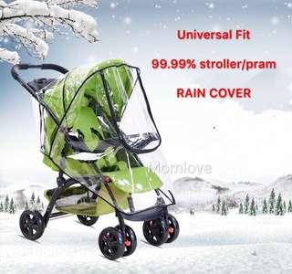 Ready Stock! Brand New Rain Cover/Weather Shield/Canopy for Lightweight Umbrella Baby Stroller/Pram