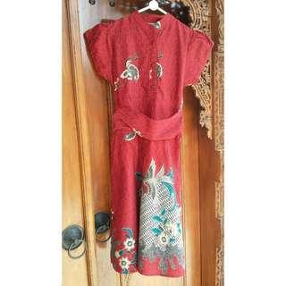 Dress Batik Merah #bersihbersih
