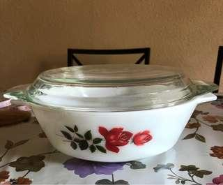 Round Rose Pyrex (Made in England)