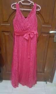 Pink long dress