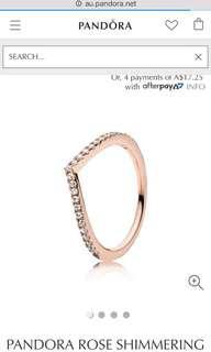 Pandora Rose Shimmering Wish Ring