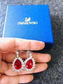 BN Swarovski Large Red Crystal Earrings