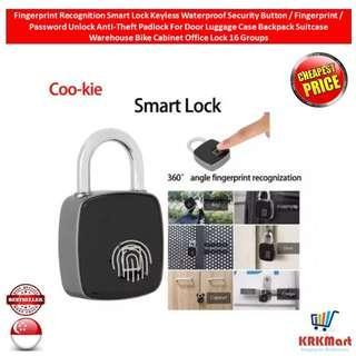 Fingerprint Recognition Smart Lock Keyless Waterproof Security Button / Fingerprint / Password