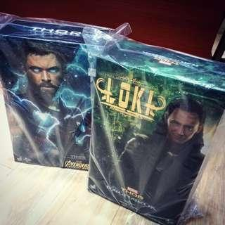 Hot toys set loki MMS472 & thor MMS474