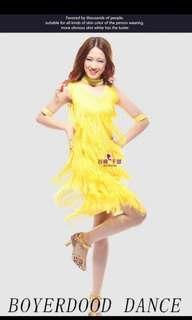Yellow Tassels Dress