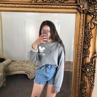 Disney Licensed Grey Mickey Sweater Jumper