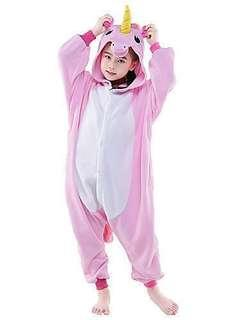 Kid's Kigurumi Pajamas Unicorn Flying Horse Onesie Pajamas Polar Fleece Pink / White+Blue / White+Pink Cosplay For Boys and Girls Animal Sleepwear Cartoon Festival / Holiday Costumes