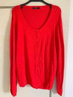 🚚 Mango Basics紅色外套