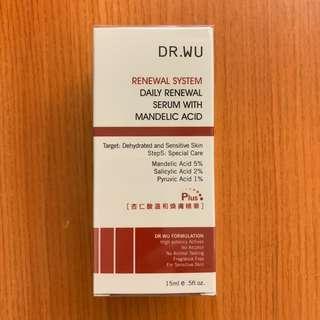 全新 Dr Wu杏仁酸溫和煥膚精華Plus 15ml 敏感肌或乾性肌膚適用 包順豐