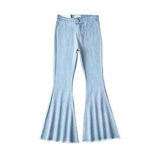 [INSTOCK] LIGHT BLUE DENIM BELL BOTTOM PANTS