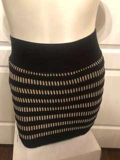 Knit mini skirt small