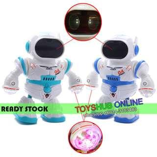 Dancing 4 Intelligent Robot Toy Battery Operated With Light and Sound