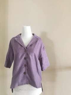 Purple suede blouse