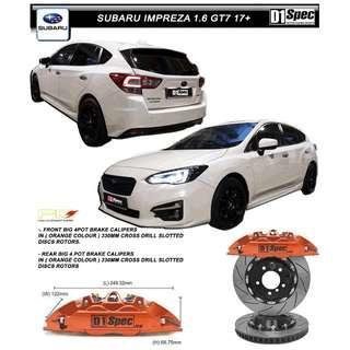 SUBARU IMPREZA 1.6 GT7 D1 SPEC FRONT & REAR BIG 4 BBK