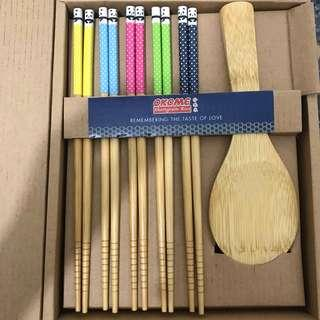 Chopsticks and rice scoop Set