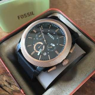 Fossil Machine Chronograph Rose Gold Men's Watch FS4715