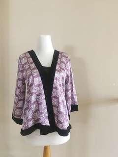 Purple silk kimono