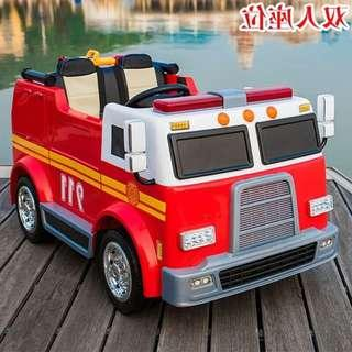 Fire Truck Electric Ride On Toy Car For Kids