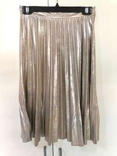 NEW ZARA Midi Pleated Skirt
