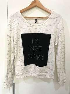H&M Im Not Sorry Sweater