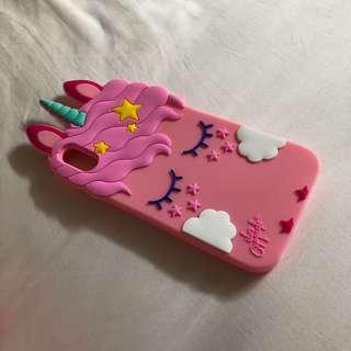 IPhone X soft cover pink cute pony