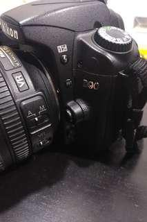 Nikon d90 with 18-105 lens fullset working conditions