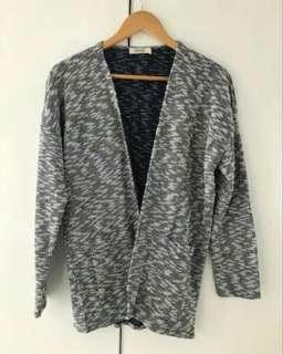 Grey Oversize Cardigan Outer