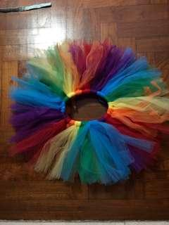 Preloved excellent condition rainbow tutu skirt for baby girl