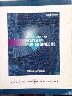 Introduction to Mathlab for Engineers 3rd edition