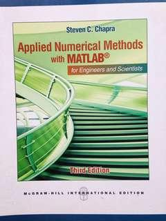 Applied Numerical Methods with Mathlab 3rd edition