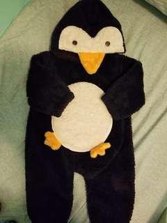 新淨企鵝毛毛超暖連體衣 BB衫(80碼,12m)