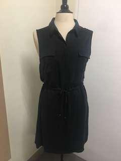 Warehouse cotton sleeveless dress