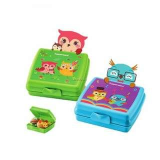 Tupperware container kids (tapau blue amd green)