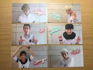 GOT7: photocards