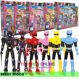 Mini Force Collection Robot Toys Figures With Weapon sound light