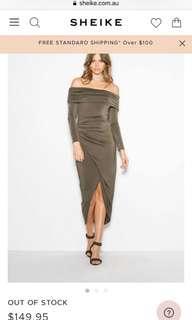 sheike khaki dress