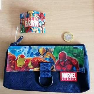🚚 Marvel Heroes Pouch Pencil Case NWT