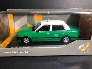1/43 Tiny 綠色 新界的士 Crown Taxi 模型