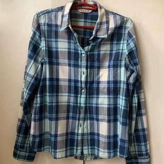 Mango Jeans Plaid Shirt