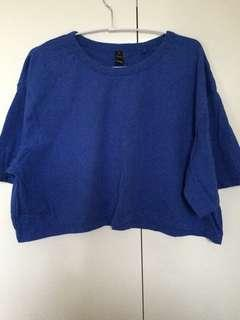 primary blue crop top