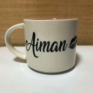 Mug with customised name decal