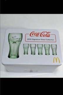 珍藏!割愛價錢!2015 鐵盒Coca Cola Signature Glass Collection